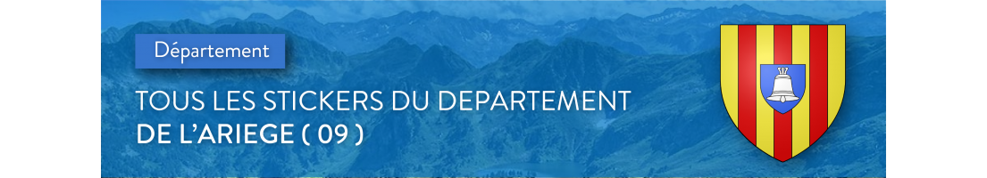 Autocollants du département de l'Ariège (09)