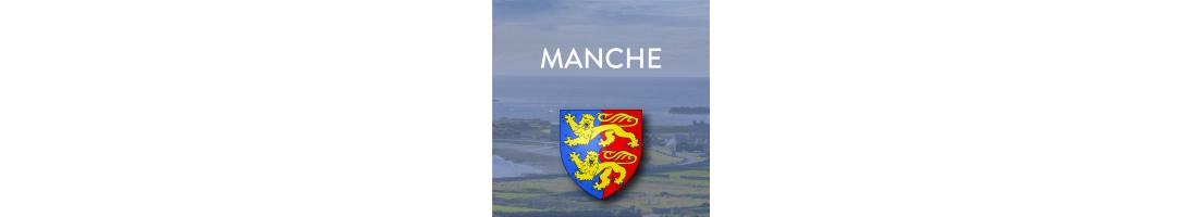 Autocollants du département de la Manche (50)