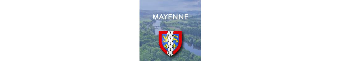 Autocollants du département de la Mayenne (53)