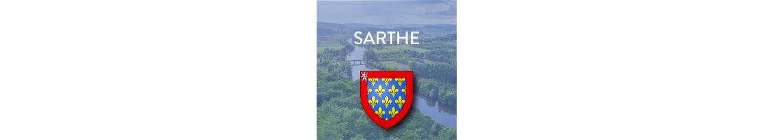 Autocollants du département de la Sarthe (72)