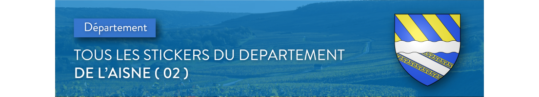 Autocollants du département de l'Aisne (02)