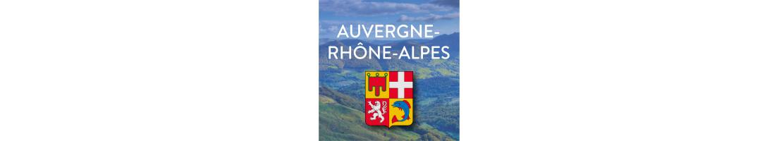 Autocollants Auvergne-Rhône-Alpes pour plaques d'immatriculation