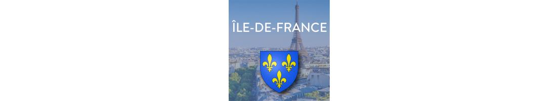 Autocollants pour plaques de la région Ile-de-France - Mon-Blason