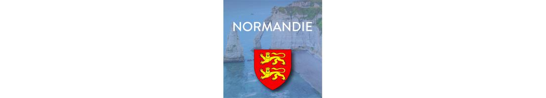 Stickers pour plaques d'immatriculation Région Normandie - Mon-Blason