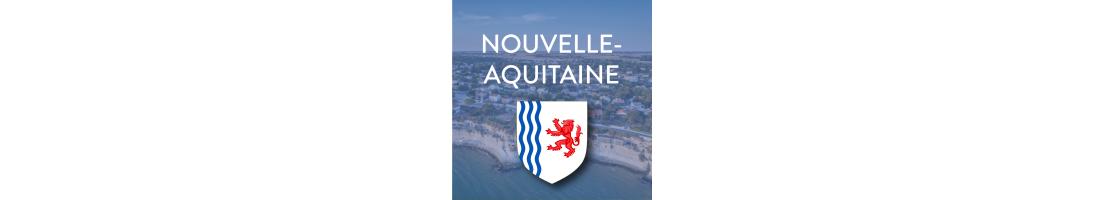 Autocollant plaque d'immatriculation région Nouvelle-Aquitaine - Mon-Blason