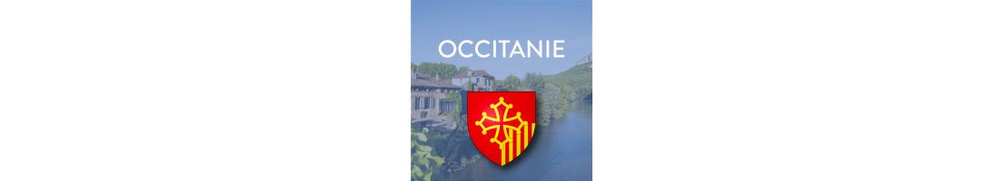 Autocollants pour plaques auto/moto de la région Occitanie - Mon-Blason