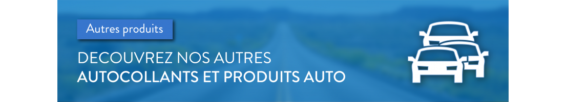 Décoration adhésive des véhicules, forme, couleur et motif au choix
