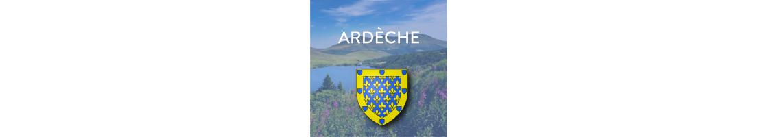 Autocollants du département de l'Ardèche (07) pour plaques d'immatriculation