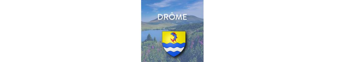 Autocollants pour plaques auto/moto de la Drôme (26)