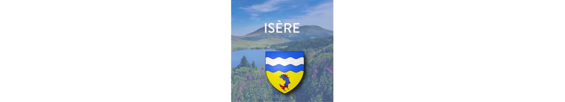 Autocollants pour plaques du département de l'Isère (38)