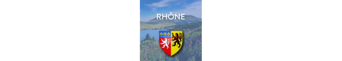Autocollants pour plaques d'immatriculation  département du Rhône (69)