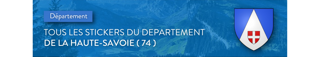 Stickers pour plaques d'immatriculation département de la Haute-Savoie (74)