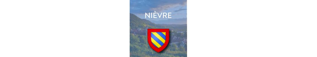 Autocollants pour plaques d'immatriculation - Nièvre (58)