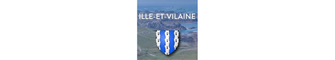 Autocollants du département de l'Ille-et-Vilaine (35)