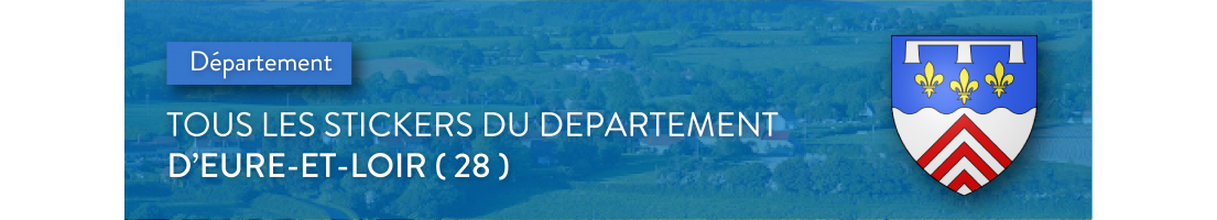 Autocollants du département de l'Eure-et-Loir (28)