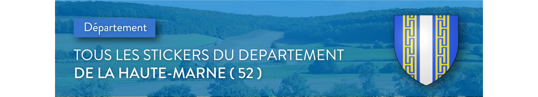 Autocollants du département de la Haute-Marne (52)