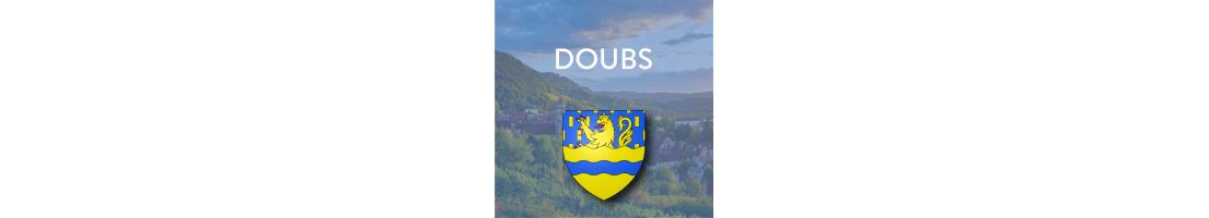 Autocollants pour plaques d'immatriculation - Doubs (25)