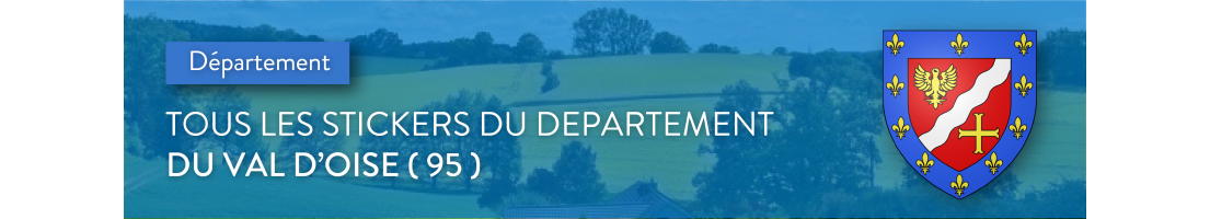 Autocollants du département du Val-d'Oise (95)
